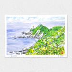 夏の佐多岬灯台